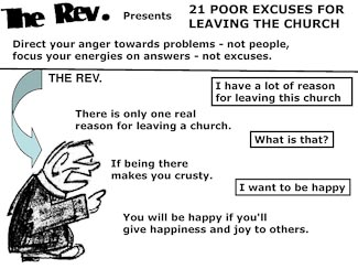 21 Poor Excuses for Leaving the Church Slide 1
