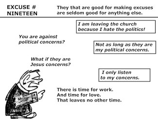 21 Poor Excuses for Leaving the Church Slide 21